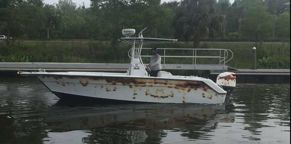 Used Stamas 250 Tarpon Saltwater Fishing Boat For Sale