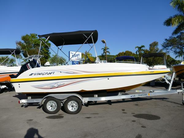 New Starcraft 2000 Limited Yellow #35A Deck Boat For Sale