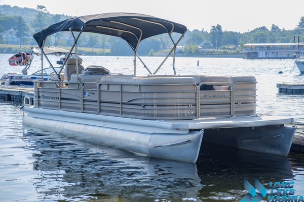 Used Sanpan 2500 RE-3 Gate Pontoon Boat For Sale