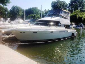 Used Carver 370 Voyager Convertible Fishing Boat For Sale