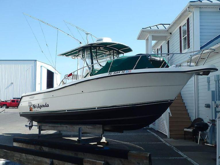 1998 used pursuit 2870 cc center console fishing boat for for Used fishing boats for sale in md