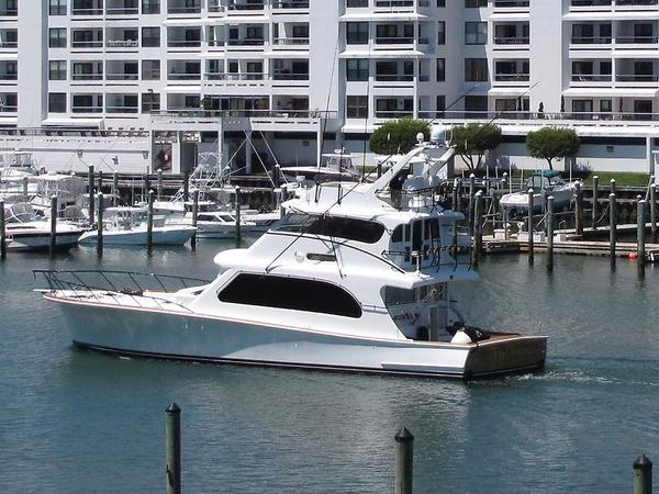 Used Tiffany Yachts 72 Enclosed Bridge Convertible Fishing Boat For Sale