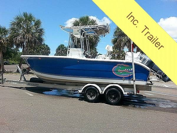 Used Sea Pro 220 CC Center Console Fishing Boat For Sale