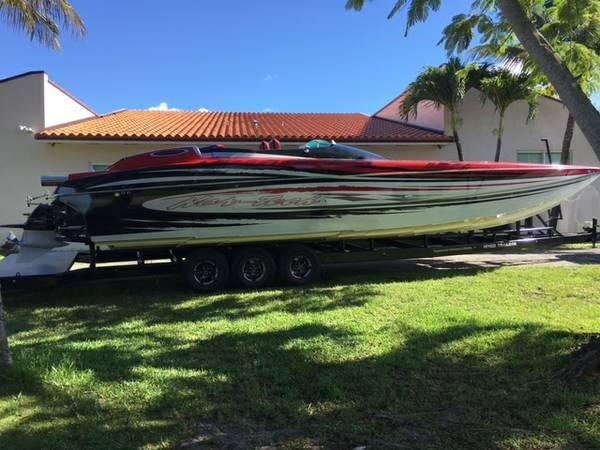 2008 Used Nor-Tech 3600 Supercat High Performance Boat For