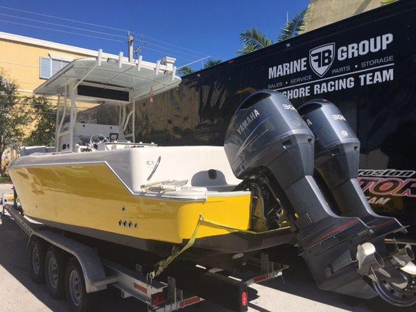 Used Pro-Line 3400 Bimini Cuddy Cabin Boat For Sale