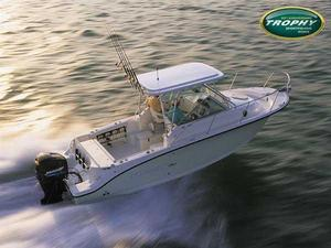 Used Trophy 2502 Walkaround Saltwater Fishing Boat For Sale