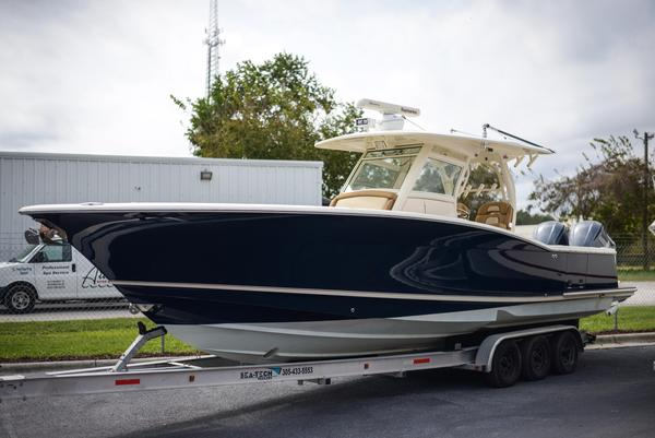 Used Scout Boats 345 XSF Saltwater Fishing Boat For Sale