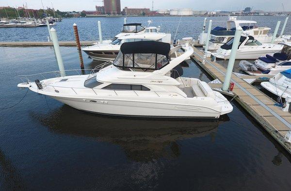 Used Sea Ray 450 Express Bridge Cruiser Boat For Sale