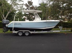 Used Polar 2300 Center Console Saltwater Fishing Boat For Sale