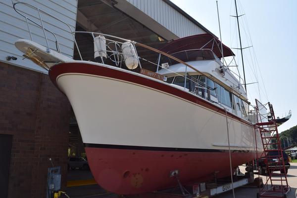 Used Hatteras 42 Long Range Cruiser Trawler Boat For Sale