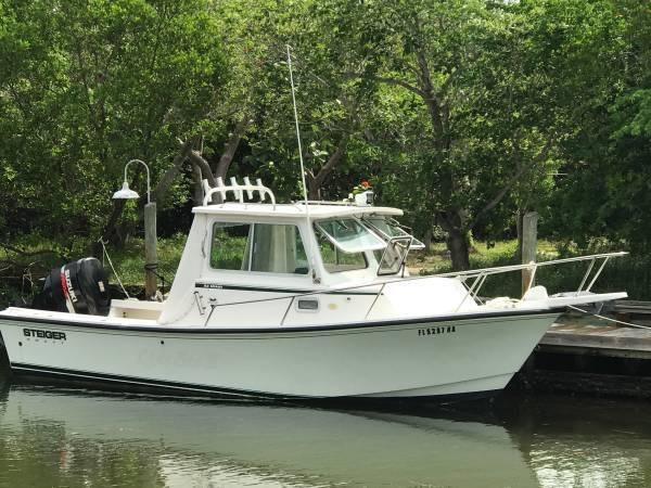 2008 used steiger craft miami sports fishing boat for sale for Used fishing boats for sale in florida