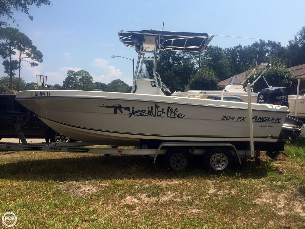 2005 used angler 204 fx le center console fishing boat for for Angler fishing boat