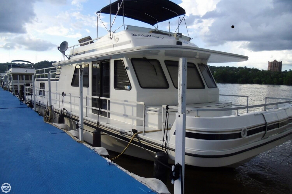 Used Gibson 5500 Houseboat House Boat For Sale