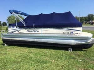 Used Aqua Patio 220 RE Pontoon Boat For Sale