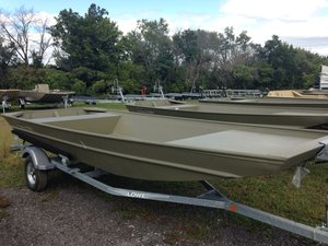 New Lowe Roughneck 1755 Big River - Tiller Jon Boat For Sale