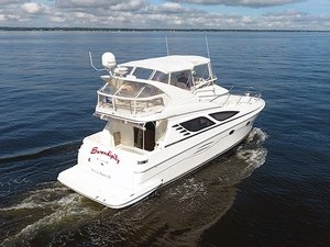 Used Silverton 43 Sport Bridge Flybridge Boat For Sale