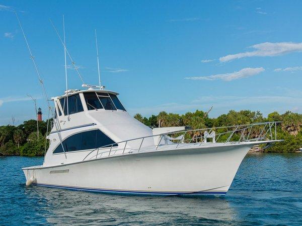 Used Ocean Yachts Super Sport Enclosed Bridge Cruiser Boat For Sale