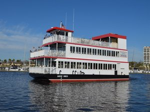 Used Custom Triple Deck Dinner River Boat Commercial Boat For Sale