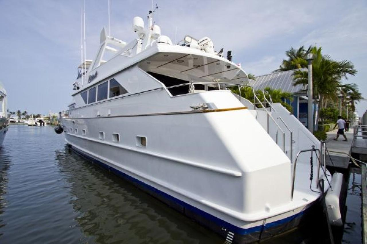 1989 used broward motoryacht motor yacht for sale for Motor yachts for sale in florida