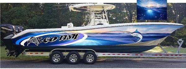 Used Triton 351 CC Saltwater Fishing Boat For Sale