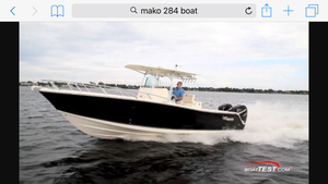 Used Mako 284 CC Bluewater Fishing Boat For Sale