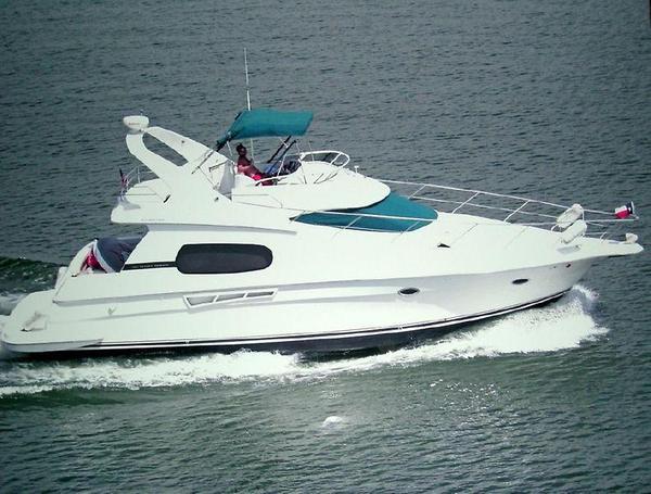 Used Silverton 410 Sport Bridge Fresh Water Only Flybridge Boat For Sale