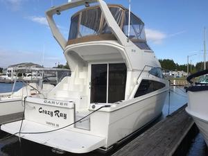 Used Carver 33 Super Sport Convertible Fishing Boat For Sale
