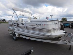 Used Smoker Craft Sunship Pontoon Boat For Sale