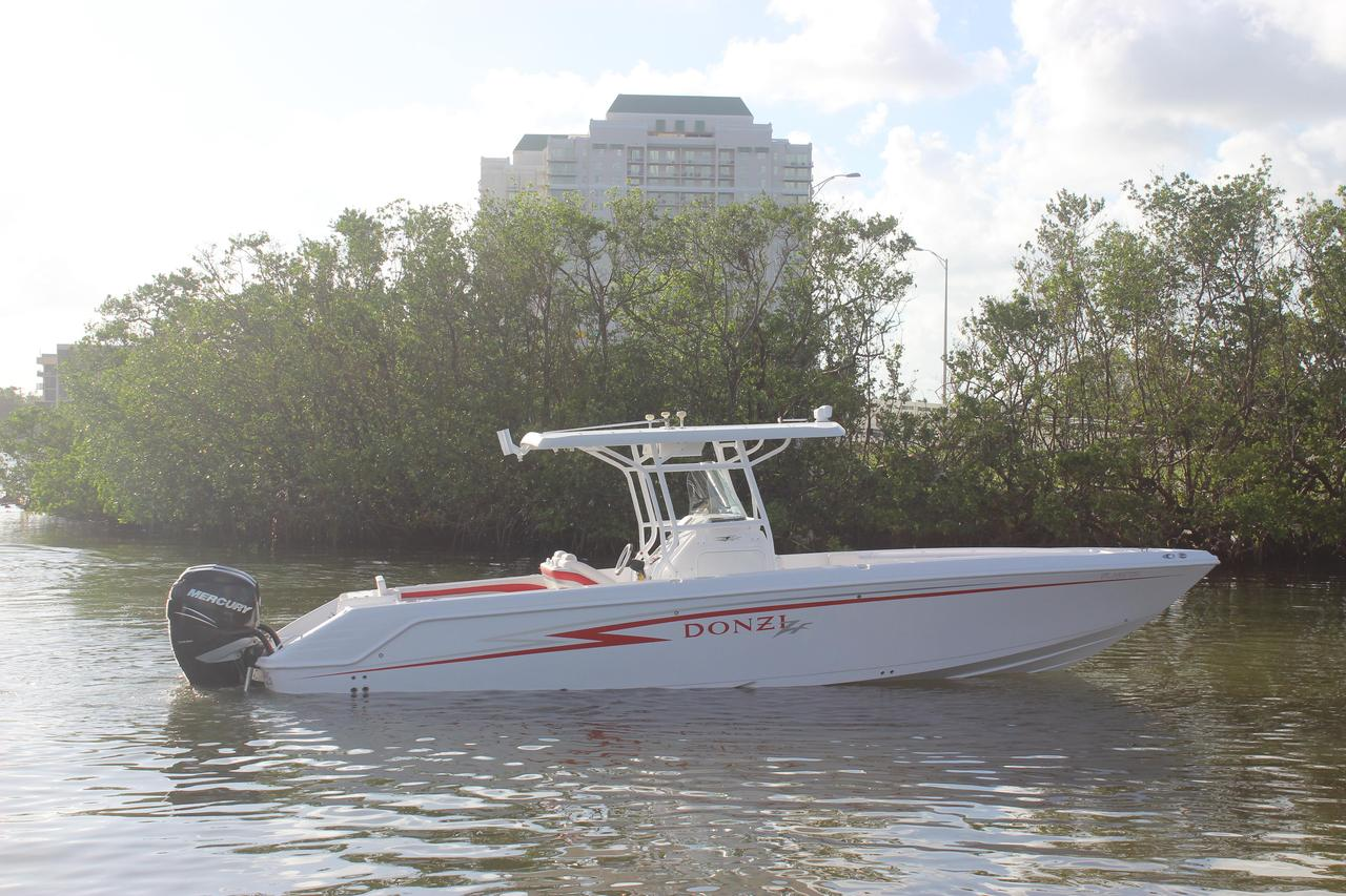 2009 used donzi 35 zf open saltwater fishing boat for sale for Offshore fishing boats for sale