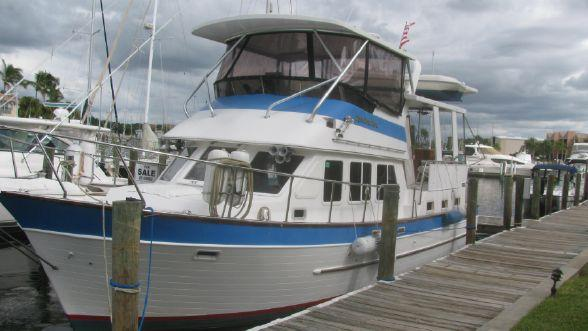 Used Marine Trader Cockpit Motor Yacht Trawler Boat For Sale