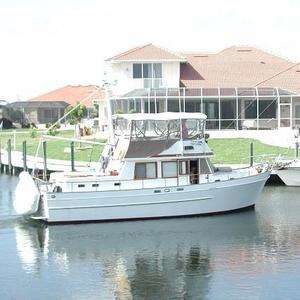 Used Marine Trader 38 DC Trawler Boat For Sale