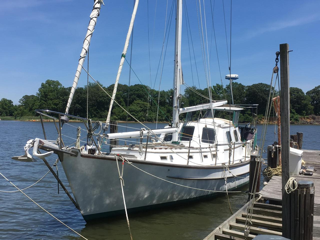 1981 Used Seaton Pilothouse Cutter Cruiser Sailboat For Sale
