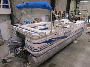 Used Sylvan 824 Supreme TRIPLE pontoon Boat For Sale