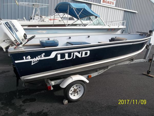 Used Lund 14' Aluminum Fishing Boat For Sale