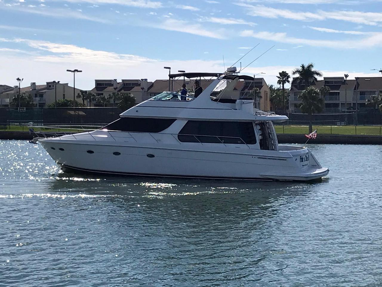 1998 used carver 530 voyager pilothouse motor yacht for for Motor yachts for sale in florida