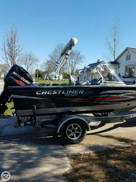 2015 Used Crestliner 1750 Raptor Aluminum Fishing Boat For