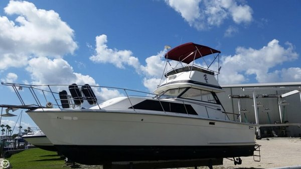 Used Trojan 30 Flybridge Express Cruiser Boat For Sale