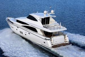 New Johnson 80' Skylounge w/Hydraulic Platform Motor Yacht For Sale