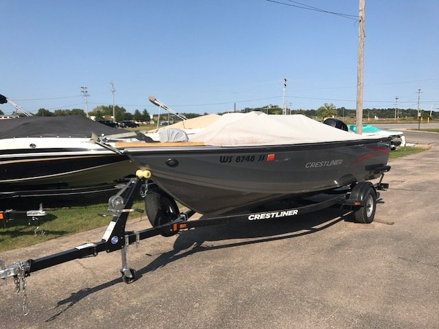 2015 used crestliner 1650 fish hawk saltwater fishing boat for Used fishing boats for sale in wisconsin