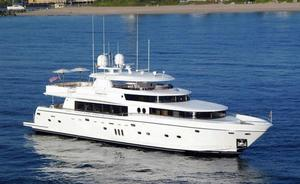 New Johnson 110' Flybridge w/On-Deck Master Motor Yacht For Sale