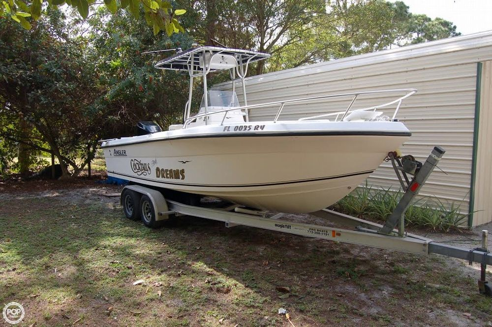 2005 used angler 220 center console fishing boat for sale for Angler fish for sale