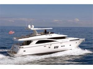 New Johnson Flybridge w/Hydraulic Platform Motor Yacht For Sale