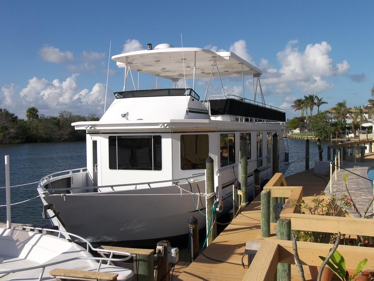 2013 used sunstar coastal cruiser house boat for sale 299 000 cocoa beach fl. Black Bedroom Furniture Sets. Home Design Ideas