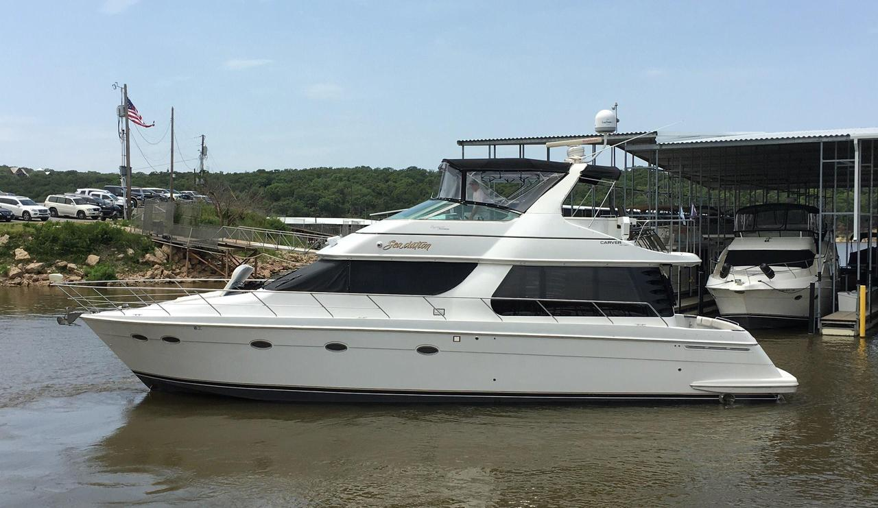2000 used carver 530 voyager pilothouse motor yacht for for Used motor yacht for sale