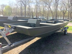 New Alumacraft 1648 RIVER SPECIAL JET PACKAGE Jon Boat For Sale