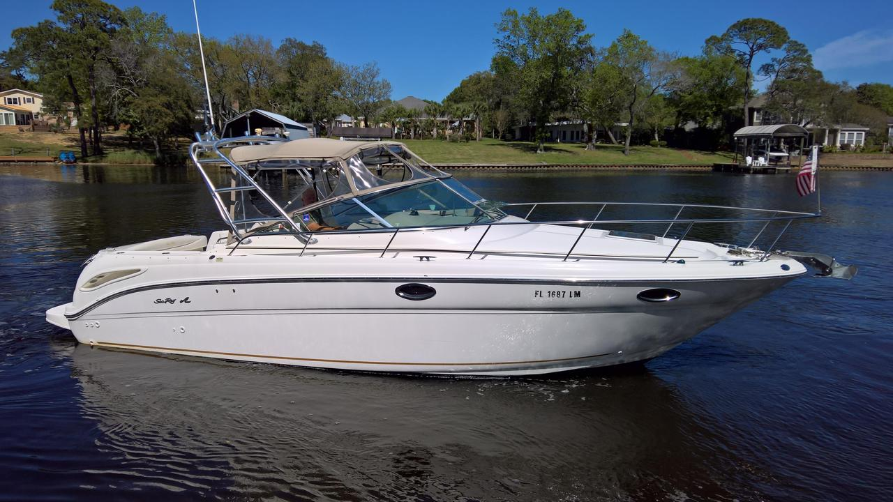 2001 used sea ray 290 amberjack290 amberjack saltwater for Sea ray fish