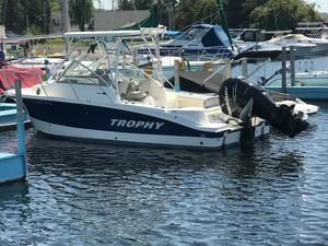 Used Trophy 2302 Walkaround Freshwater Fishing Boat For Sale