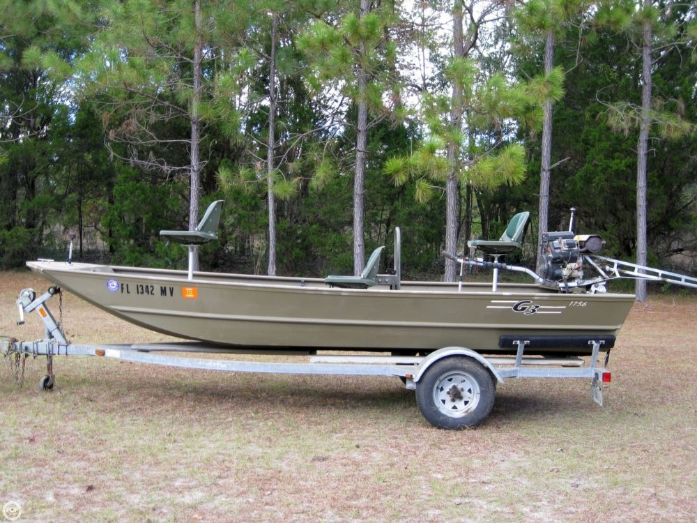2005 used g3 1756 wof aluminum fishing boat for sale for Used fishing boats