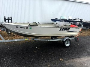 Used Lowe A1467WT Angler Utility V Sports Fishing Boat For Sale