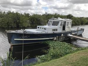 Used Uniflite 50 Workboat Trawler Boat For Sale